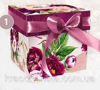 Подарочная коробка с крышкой, Пионы, Днепр, опт