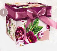 Подарочная коробка с крышкой, Пионы, Днепр, опт, фото 1