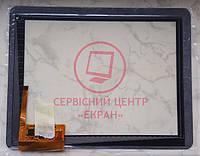 """Сенсорний екран для планшетів 9.7"""", Globex GU901C; IconBIT NetTAB Space, 237 мм, 184 мм, 12 pin, чорний"""