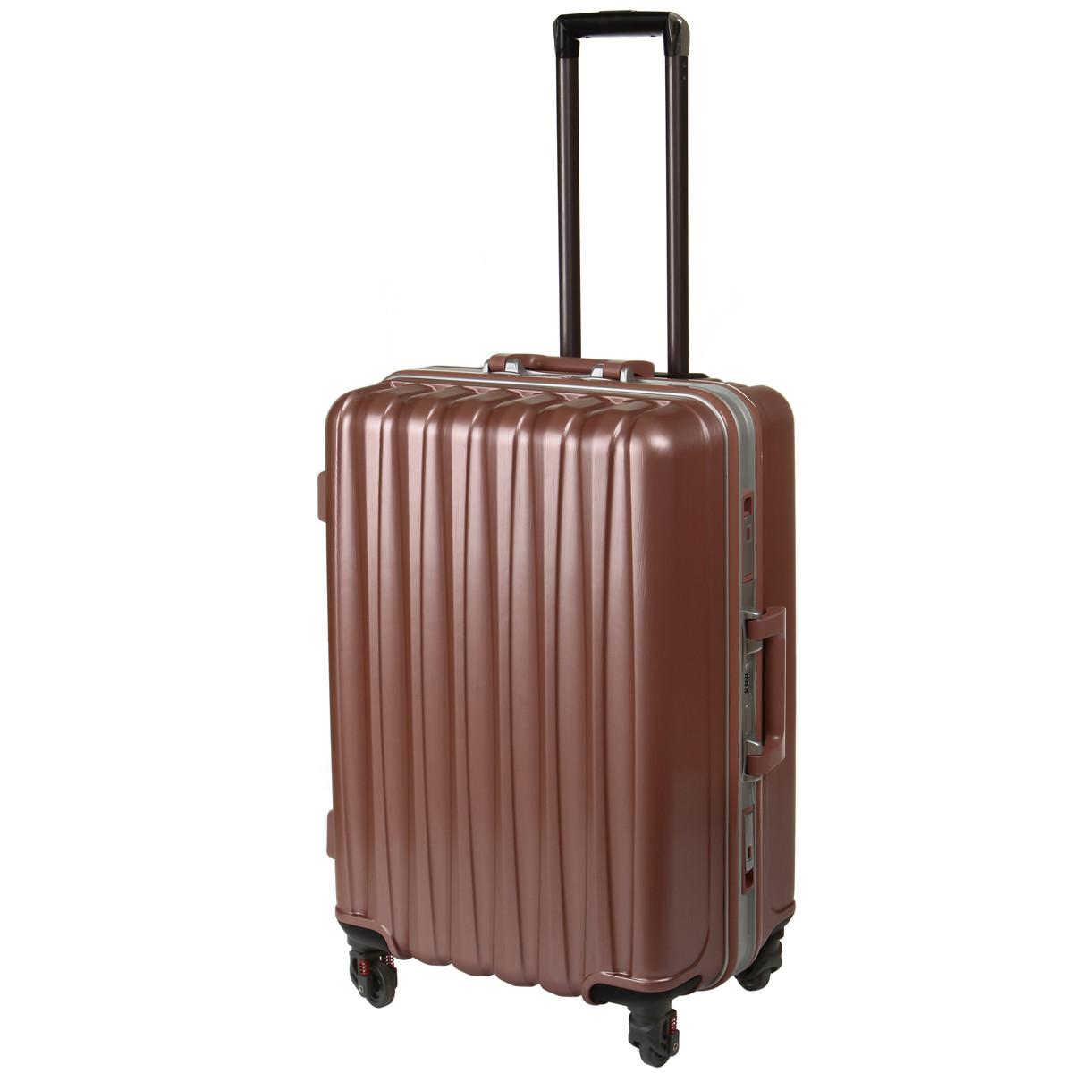 Валіза великий BagHouse 4 колеса 43х61х30 колір сріблясто-рожевий кс325бр