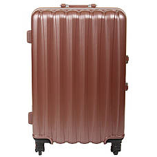 Валіза великий BagHouse 4 колеса 43х61х30 колір сріблясто-рожевий кс325бр, фото 3