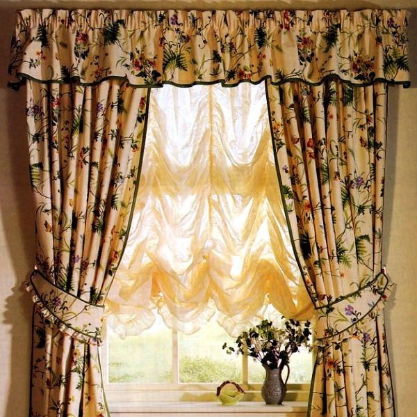 Выбираем ткань для штор в стиле «Кафе». Где купить ткань для штор в Киеве и заказать пошив штор