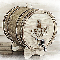 Бочка дубовая (жбан) для вина, спирта, коньяка Seven Seasons™, 40 литров латунь