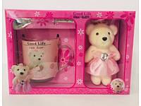 Подарочный набор День Святого Валентина 8 Марта Мишка Чашка Ложка Сувенир Лучшая Жизнь, фото 1