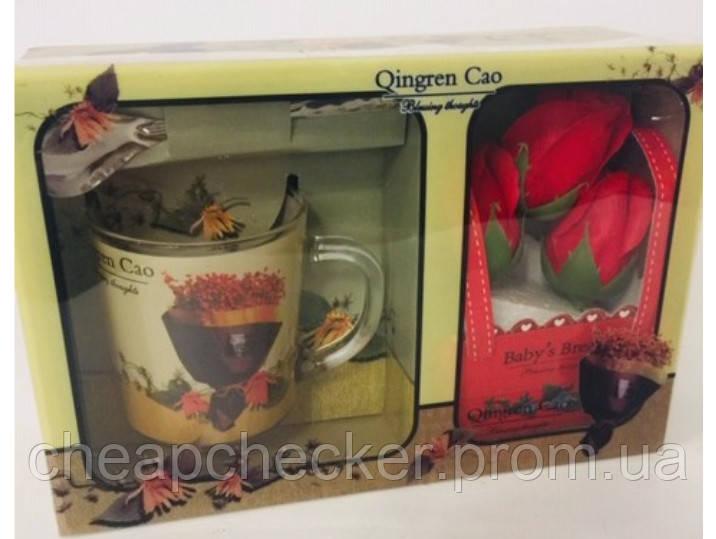 Подарочный набор Мыло Лепестки Роз Чашка Ложка День Святого Валентина 8 Марта Сувенир