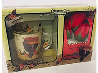 Подарочный набор Мыло Лепестки Роз Чашка Ложка День Святого Валентина 8 Марта Сувенир, фото 1