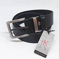 Мужской черный кожаный ремень Calvin Klein чоловічий ремінь шкіряний чорний  пояс 754162fe5dffd