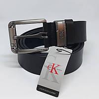 Мужской черный кожаный ремень Calvin Klein чоловічий ремінь шкіряний чорний  пояс 5ff942c258e32