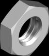 Гайка низкая с мелким шагом резьбы стальная класс прочности 04