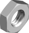 Гайка низкая с мелким шагом резьбы стальная класс прочности 05