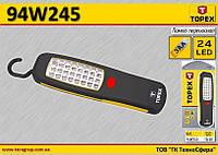 Лампа на батарейках 3хАА, 24LED,  TOPEX  94W245