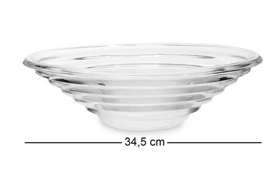 Фруктовница стеклянная 35 см диаметром CG-31