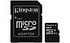 Карта памяти microSD Kingston microSDHC 8GB Class 10 + SD adapter , фото 2