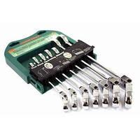 Набор ключей комбинированных трещоточных с карданом