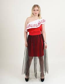 Молодежная юбка-сетка