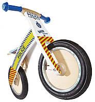"""Беговел 12"""" Kiddi Moto Kurve деревянный, полицейская машина"""