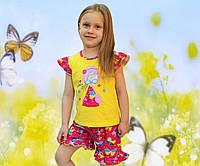 Детский летний костюм для девочек I summer