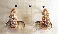 Серьги кольца ХР 18к, позолота