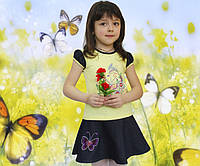 Детский летний костюм для девочек Бабочки