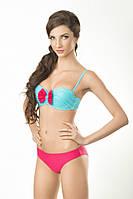 Купальник женский раздельный двухцветный пуш-ап, push-up бандо балконет анжелика Marina 2015