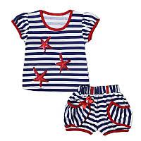 Детский летний костюм для девочек Морячка