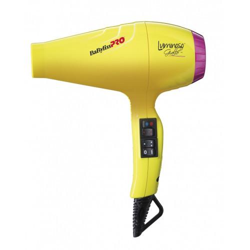 Профессиональный фен с ионизацией BaByliss PRO Luminoso Giallo BAB6350IYE