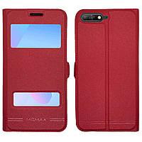 Чехол книжка Momax для Huawei Y6 2018, 7a Pro (atu-l21) Red