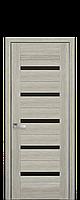 Межкомнатные двери модель Лира (чёрное стекло)