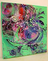 Картина маслом Авторская абстракция Большая Живопись Ручная работа Декор в гостиную спальню кухню офис