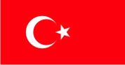 Флаг Турции 0,9х1,35 м. Материал для уличного применения флажная сетка