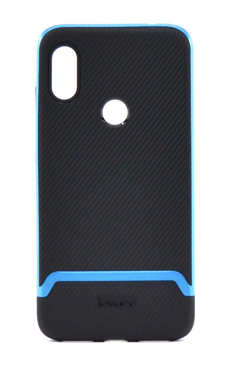 Чохол-накладка iPaky для Xiaomi Redmi Note 6 PRO TPU+PC Чорний/Синій