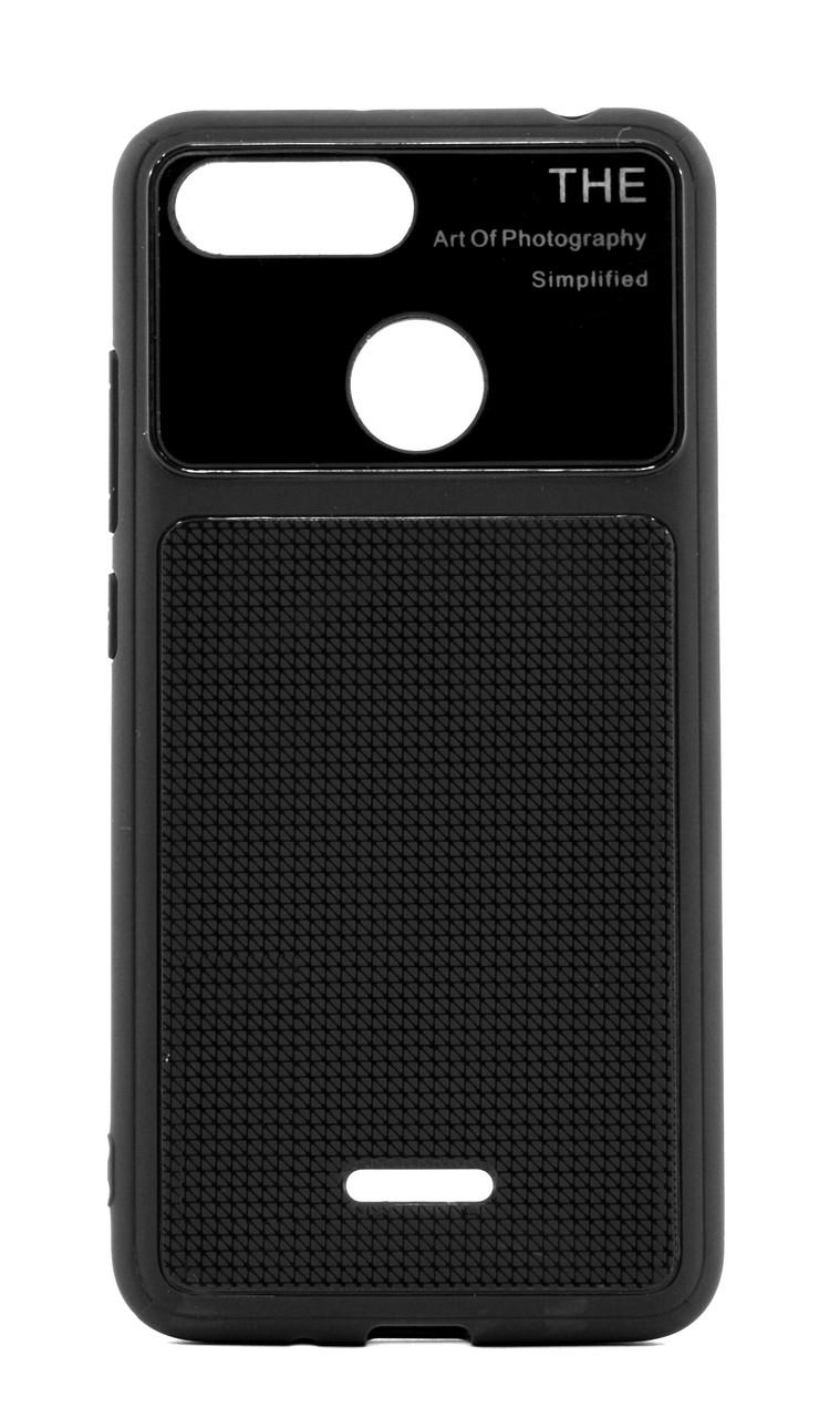 Чехол накладка для Xiaomi Redmi 6 Glossy Half ser. TPU Черный