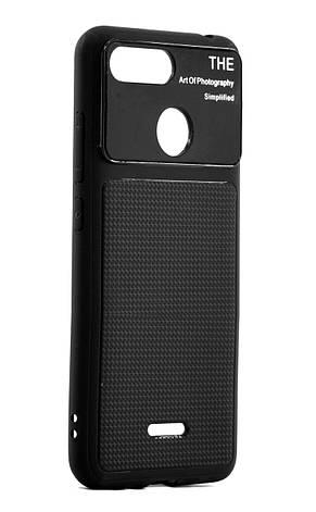 Чехол накладка для Xiaomi Redmi 6 Glossy Half ser. TPU Черный, фото 2