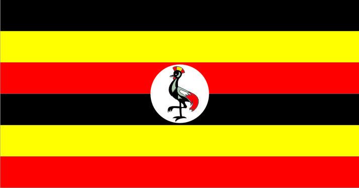 Флаг Уганды 0,9х1,35 м. материал для уличного применения флажная сетка