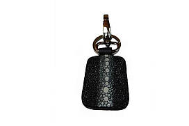 Брелок  Ekzotic Leather из натуральной кожи морского ската Черный (st 03)