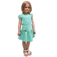 Детский летний костюм для девочек Горошек