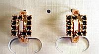Серьги маленькие кольца ХР , эмаль, позолота