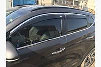 Ветровики с хром полоской (4 шт, Niken) Hyundai Tucson TL 2016+ гг.