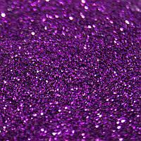 Глиттерный песочек мелкий для ногтей фиолетовый 0,1 мм