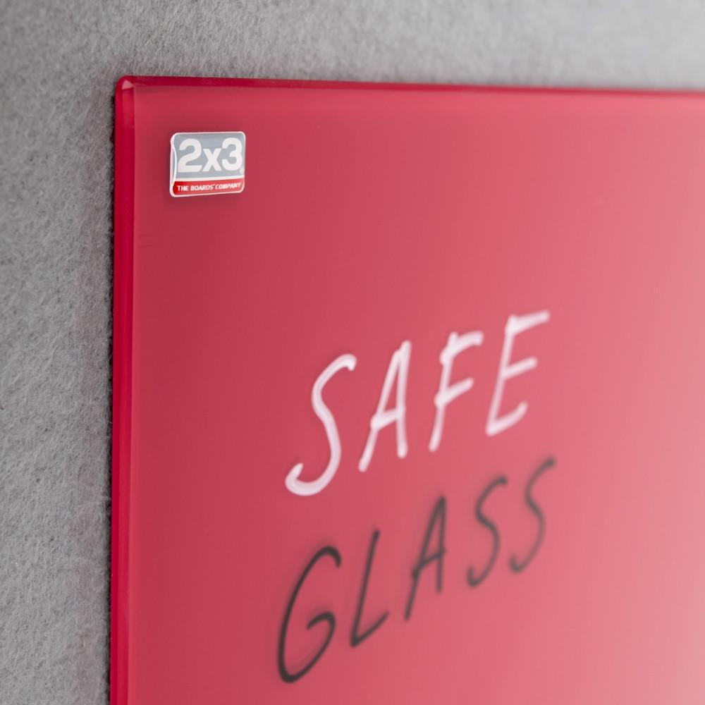 Доска стеклянная 2x3 магнитная красная 60х80см. (TSZ86R)