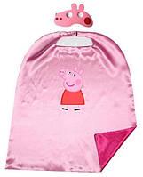Маскарадный костюм накидка и маска Свинки Пеппы для девочки 2-5 лет