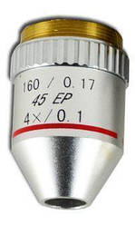 Объектив для микроскопа 4х / 0.1 160 / 0.17 45 ЕР (ахроматический, не иммерсионный)