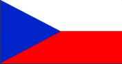 Флаг Чехии 0,9х1,35 м. атлас