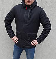 Куртка черная мужская весенняя с капюшоном брендовая Puma Пума