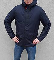 Куртка синяя мужская весенняя с капюшоном брендовая Puma Пума