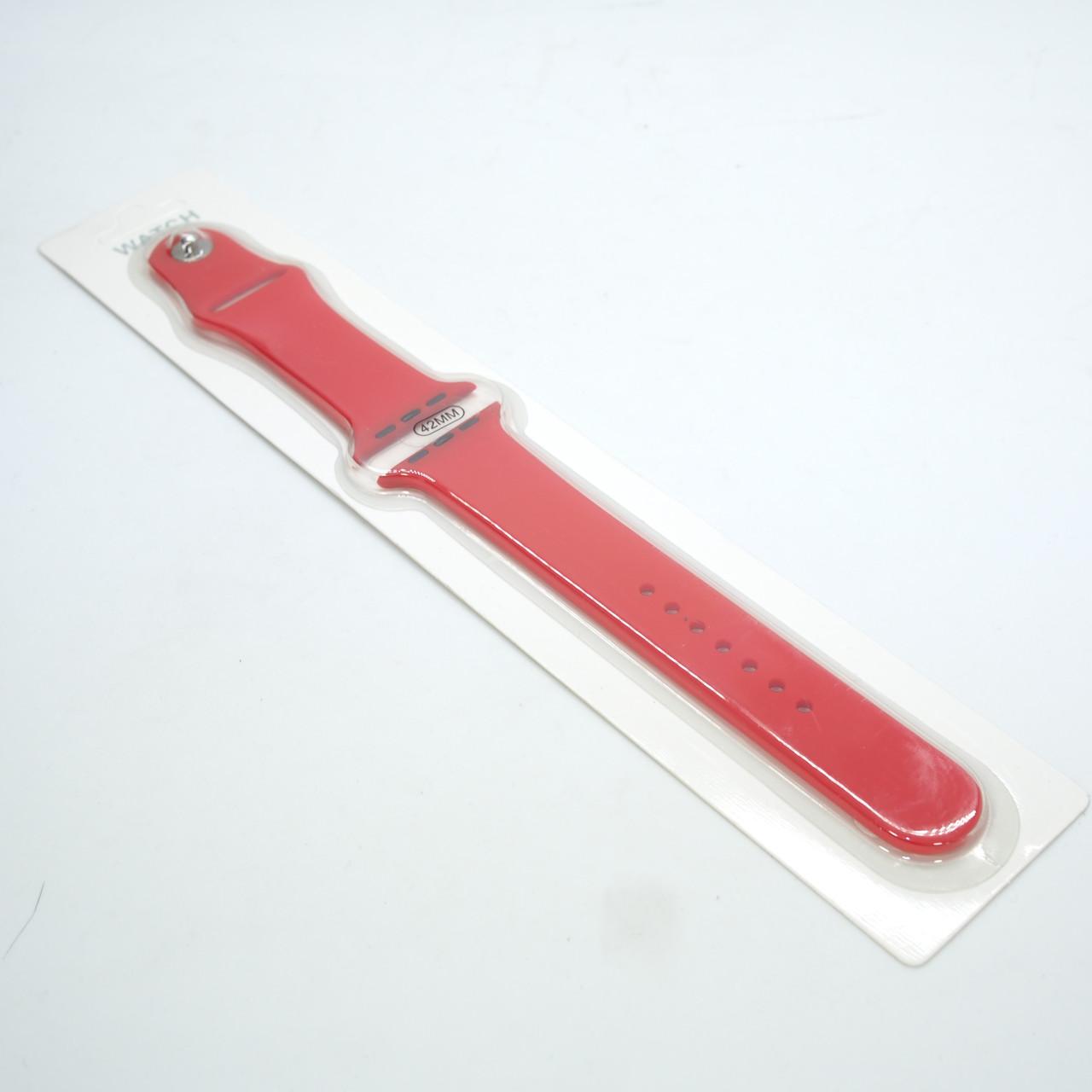 Ремешок Apple Watch 42/44mm Silicone red