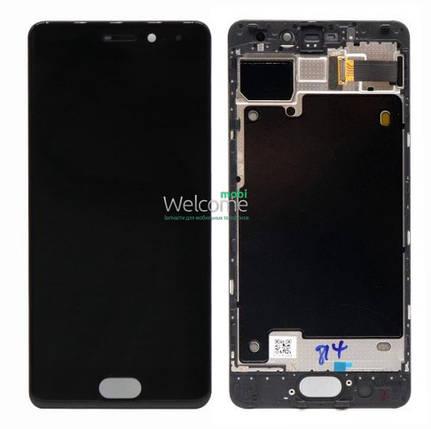 Модуль Meizu Pro 7 black с рамкой дисплей экран, сенсор тач скрин Мейзу Про 7, фото 2