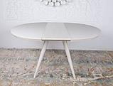 Круглый обеденный стол AUSTIN (Остин) 110/145 матовое стекло капучино Nicolas (бесплатная адресная доставка), фото 7