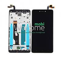 Модуль Xiaomi Redmi Note 4X black с рамкой дисплей экран, сенсор тач скрин Сяоми Ксиоми Редми Нот 4Х