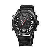 Оригинал Часы наручные Weide All Black WH6306B-5C Гарантия 1 год 0272cfaf84835